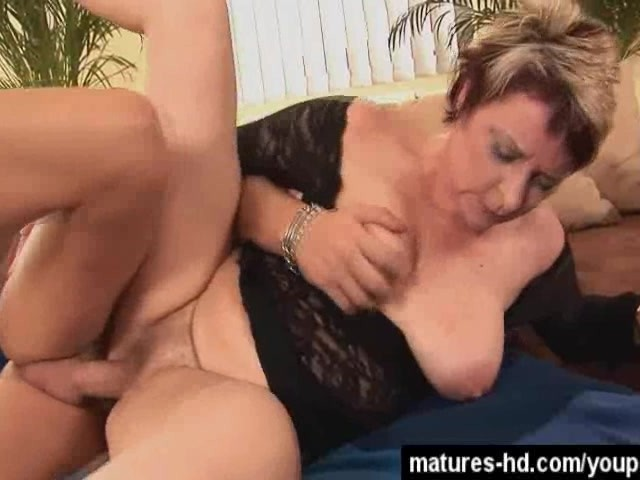 Big Tit Redhead Smoking