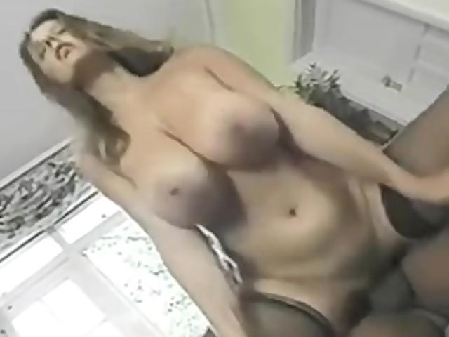 Cumming Huge Natural Tits