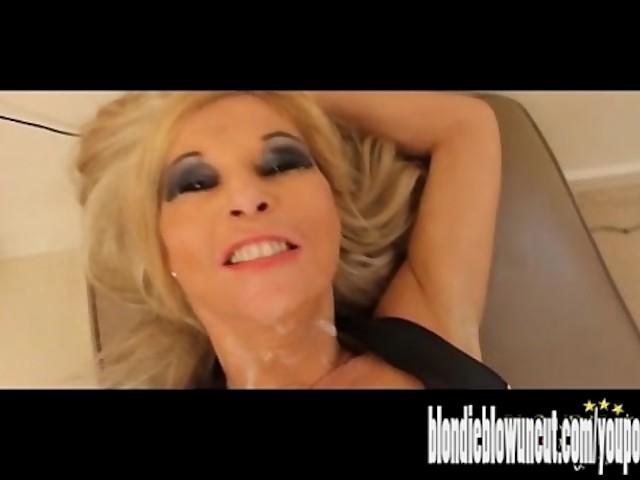 Blonde Milf Handjob Dirty Talk
