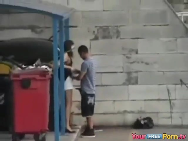 Horny Couple Fucking Public