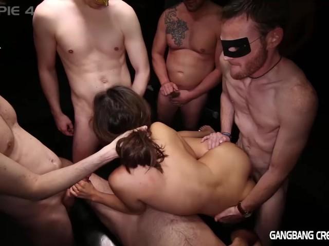 Big Tits Amateur Gang Bang