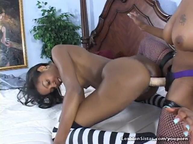 Black Girl Fucks Girl Strapon