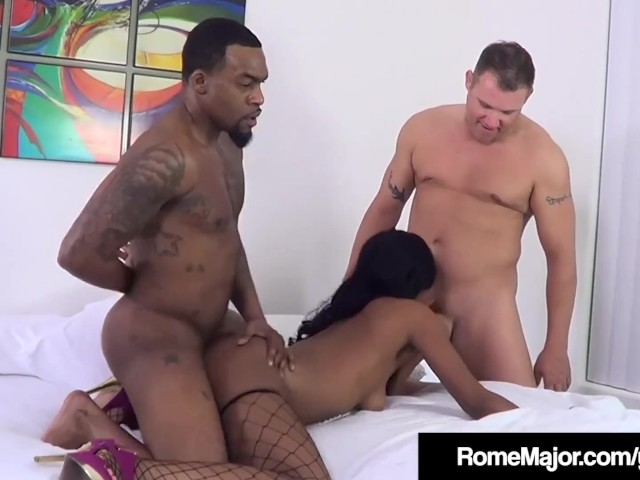 Big Boob Ebony Threesome