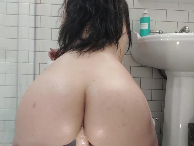 Reiten Dildo Öffentliche Toilette