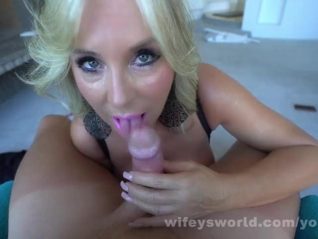 Blonde Milf Footjob Blowjob
