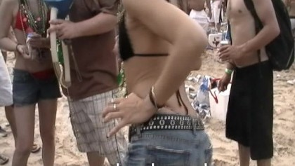 Teen Party Girls on Coke Beach South Padre