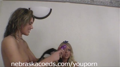 New Years Eve Party Girl Strap-On Part 1
