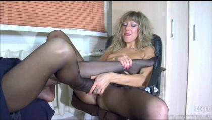 Lesbische Nylon Füße Anbetung