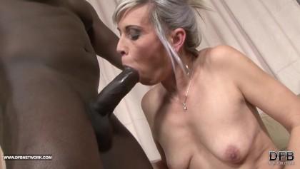 Teasing tight pussy interracial rough black anal fucking
