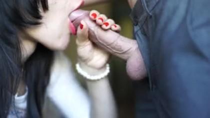 Sperma Saugen Blowjob Halten Es saugt