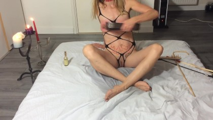 Painslut: extreme deepthroat, nipples & clit torture, anal gape, peeing