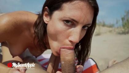 Plajda seks! Fan izleyelim biz - Çıplaklar Amatör MySweetApple