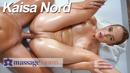 Massage Rooms Big tits Russian redhead Kaisa Nord hot romantic massage sex