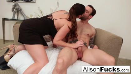 Alison Tyler meets a guy & fucks his pal