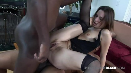 PrivateBlack - Really? 3 Big Black Cocks DP Hottie Amber Rayne!