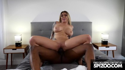 Busty Inked Blonde Tight Pussy Creampie BBC