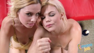 Tara Lynn Foxx and Alice Hole Frost in the ManoJob video One Is Not Enough!