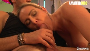 LaCochonne - Curby French MILF Hardcore Pussy Fuck With Two Horny Guys