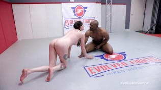 Mixed Nude Wrestling With Will Tile Against Aria Khaide Getting Her BBC Serviced Then He Fucks Her