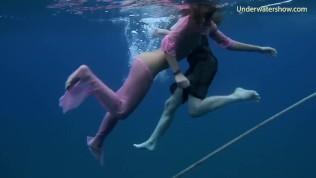 Hot girls on tenerife in the sea