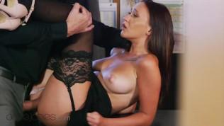 Dane Jones Big natural boobs intern bent over desk and fucked
