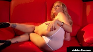 Caldo Spogliarellista Mamma!? Splendida bionda Julia Ann Dito scopa con Dirty Talk!