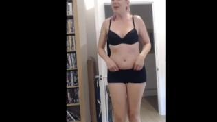stepmom dances & strips for stepson