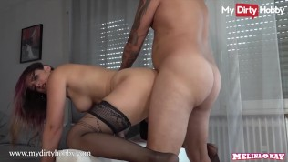 MyDirtyHobby � Melina May Fucks Her Unsatisfied Landlord While His Wife Is At Work