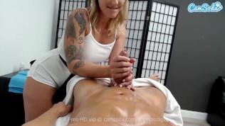 masseuse gives big cock stud blowjob happy ending